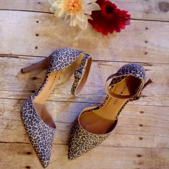 78cf8e5eab Lucky Brand Shoes | Tukko Leopard Heels | Poshmark